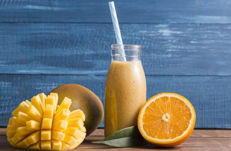 Receta batido de mango con yogurt
